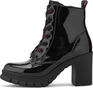 Buffalo, Schnür-Stiefelette Majesty in schwarz, Boots für Damen