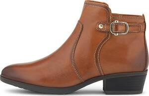 Pikolinos, Leder-Stiefelette in mittelbraun, Boots für Damen