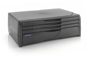 Printer/Monitor Stand (4 Schubl.) PC-Ständer schwarz