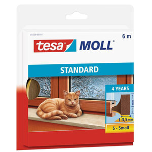 Tesa              Langlebiger Schaumstoff 6 m, braun, für Spalten von 1-3, 5 mm