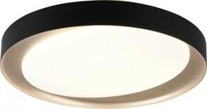 Reality Leuchten LED Deckenleuchte Zeta CCT, dimmbar, Fernbedienung, Ø 48 cm, schwarz gold