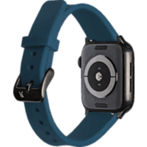 ARTWIZZ 4750-2961 Watchband Sili, Ersatzarmband, Apple, Watch Series 1-3 42 mm, Watch Series 4-5 44 mm, Nordic Blau