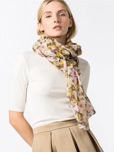 Leichter Schal mit floralem Aquarelldruck