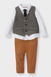 C&A Baby-Outfit-4 teilig, Beige, Größe: 98