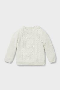 C&A Baby-Pullover-Bio-Baumwolle, Beige, Größe: 98