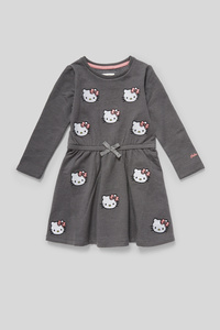 C&A Hello Kitty-Sweatkleid-Glanz-Effekt, Grau, Größe: 92