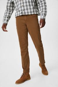 C&A Hose-Slim Fit, Braun, Größe: 38/32
