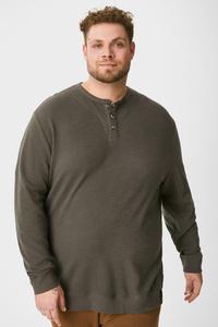 C&A Langarmshirt-Bio-Baumwolle, Grau, Größe: 6XL