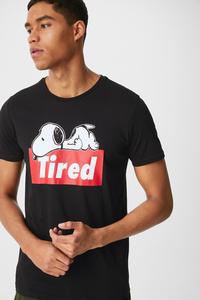 C&A T-Shirt-Snoopy, Schwarz, Größe: S