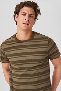 C&A T-Shirt-gestreift, Grün, Größe: L