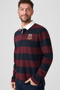 C&A Poloshirt-gestreift, Rot, Größe: M
