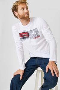 C&A Langarmshirt-Bio-Baumwolle, Weiß, Größe: XXL
