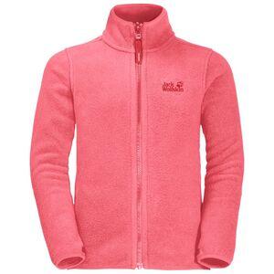 Jack Wolfskin Baksmalla Jacket Kids Fleecejacke Kinder 104 rot coral pink