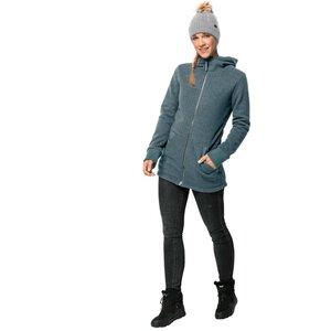 Jack Wolfskin Patan Long Jacket Women Strick-Fleecejacke Frauen XS blau north atlantic