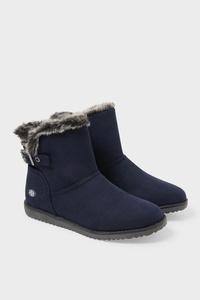 C&A Dockers-Boots-Velourslederimitat, Schwarz, Größe: 42