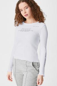 C&A Langarmshirt, Weiß, Größe: XL