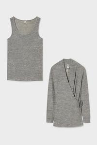 C&A Set-Hemdchen und Strickjacke, Rosa, Größe: XXL