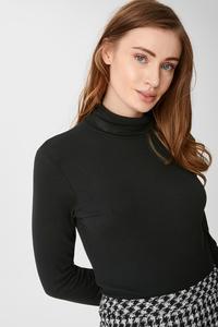 C&A Basic-Rollkragenshirt, Schwarz, Größe: M