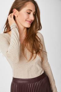 Basic-Langarmshirt - Bio-Baumwolle