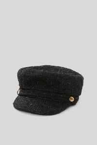 C&A Mütze-Glanz-Effekt, Schwarz, Größe: 1 size
