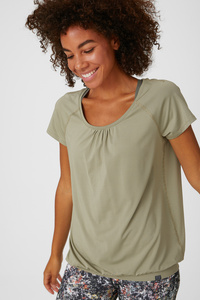 C&A Funktions-T-Shirt, Grün, Größe: XS