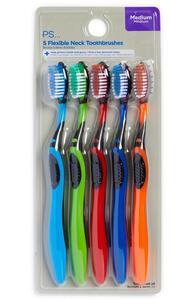 Zahnbürsten für Herren, 5er-Pack