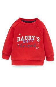 """Roter """"Daddys Best Friend"""" Rundhalspullover für Babys (J)"""