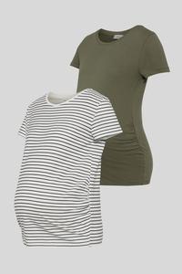 C&A Umstands-T-Shirt-2er Pack, Weiß, Größe: XL