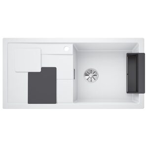 Einbauspüle - weiß - Silgranit - 100x50 cm