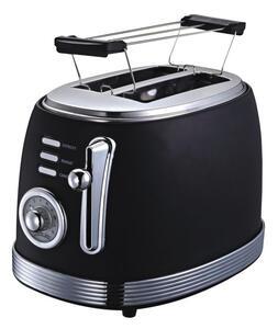Toaster Retro aus Edelstahl in Schwarz