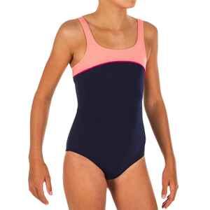 Badeanzug Taïs Mädchen blau/koralle