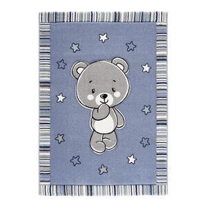 Ben'n'jen Kinderteppich 80/150 cm blau , Teddy , Textil , Bär , 80x150 cm , strapazierfähig, leicht zusammenrollbar , 007759032654