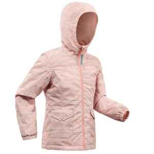 Wanderjacke SH100 Warm Wasserdicht Kinder Mädchen Gr.92–116 rosa