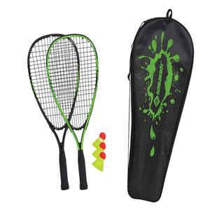 Speed-Badminton-Set 2 Schläger und 3 Federbälle