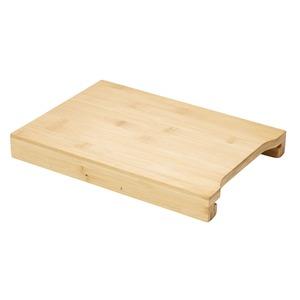Schneidbrett mit Tablett aus Bambus, ca. 35x25x4cm
