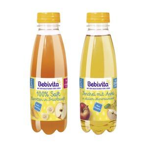 Bebivita Saft+Mineralwasser, Tee+Saft, Fruchtsaft-Getränke oder Saft, versch. Sorten, jede 500-ml-Flasche
