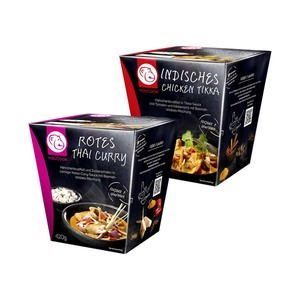 YOUCOOK Indisches Chicken Tikka Take-Away Box oder Rotes Thai Curry Take-Away Box und weitere Sorten jede 420-g-Packung