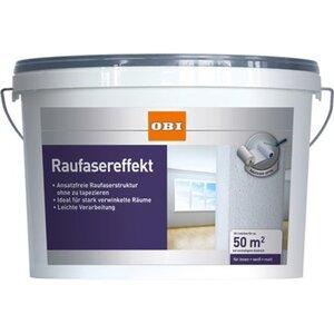 OBI Raufaser-Effekt Weiß matt 10 l