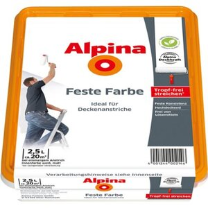 Alpina Feste Farbe Schneeweiß matt 2,5 Liter