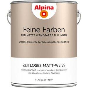 Alpina Feine Farben Zeitloses Matt-Weiss 5 l