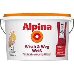 Alpina Wisch und Weg Weiss matt 5 Liter