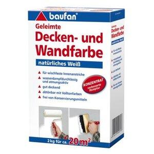 Baufan Geleimte Decken- und Wandfarbe 2 kg