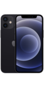 iPhone 12 mini 64GB schwarz mit Magenta Mobil S Young