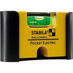 Wasserwaage Pocket Electric mit Gürtel-Clip  7 cm
