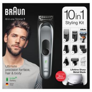 Braun MultiGroomingKit MGK7221 10-in-1-Barttrimmer dunkelgrau