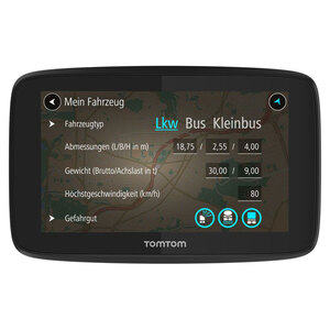 TomTom Go Professional 520 Navigationsgerät speziell für große Fahrzeuge, mit lebenslang Kartenupdates über WLAN