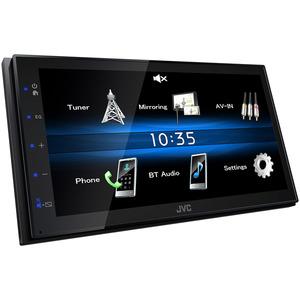 JVC Auto Media-Receiver KW-M25BT mit Bluetooth & A2DP, MP3, WMA und AAC, iPod-Steuerung, Android USB-Mirroring, 3 Preout 2.0 V, Flat Design und vieles mehr.