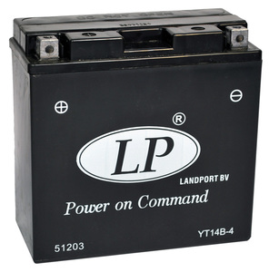 Landport YT14B-4 SLA Motorrad Batterie, 12 V 12 AH