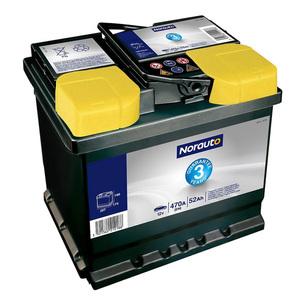 Autobatterie 09 von Norauto, 52 Ah, 470 A, 3 J. Garantie