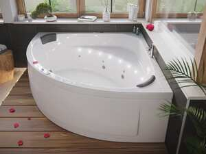 Deluxe Whirlpool TITAN ULTRA mit LED-Beleuchtung (L/B/H) 155/155/69,5 cm